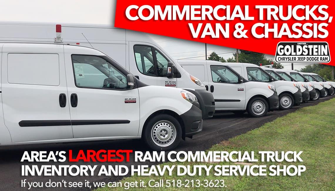 Ram Trucks White Vans For Sale Latham Ny Goldstein Chrysler Jeep Dodge Ram